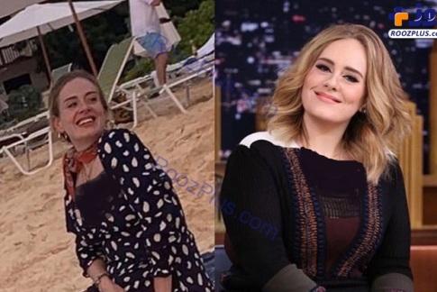 ادل قبل و بعد از کاهش وزن