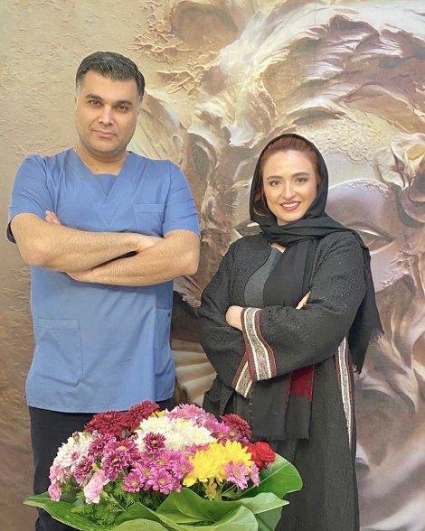 گلاره عباسی و دکتر زیبایی اش