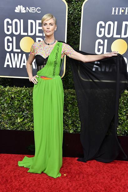 مدل لباس در گلدن گلوب Golden Globes 2020 - چارلیز ترون Charlize Theron ,مدل لباس در گلدن گلوب 2020