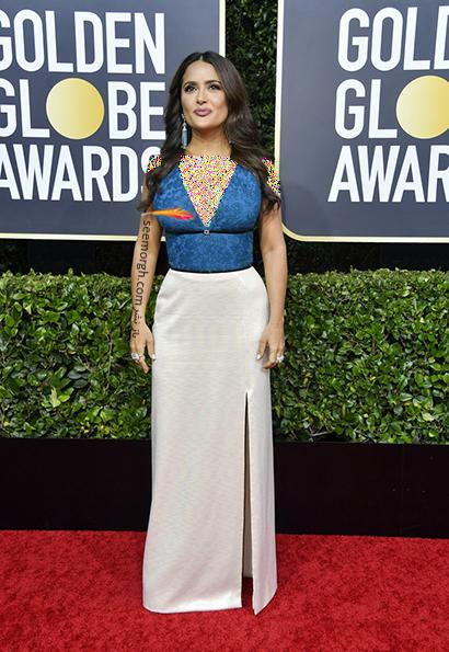مدل لباس در گلدن گلوب Golden Globes 2020 - سلما هایک Salma Hayek,مدل لباس در گلدن گلوب 2020