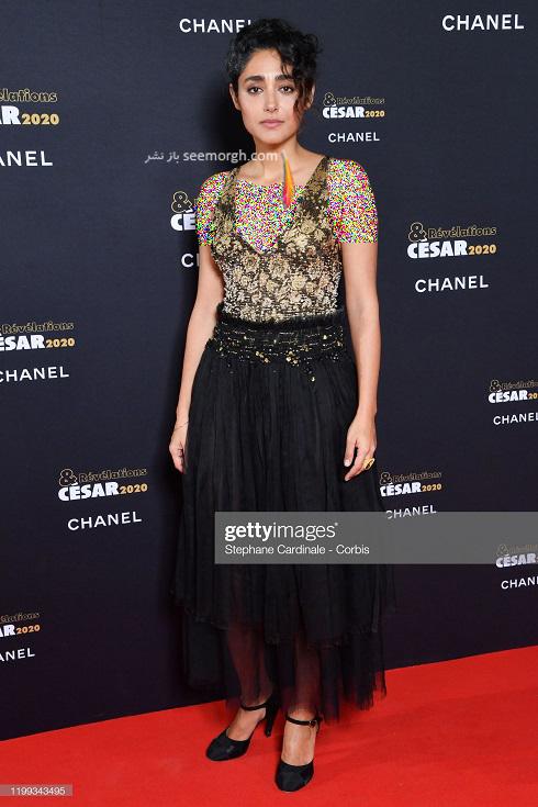 گلشیفته فراهانی در مراسم اسکار فرانسه 2020 cesar awards