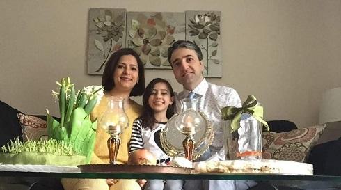 عکس حامد اسماعیلیون و همسر و دخترش