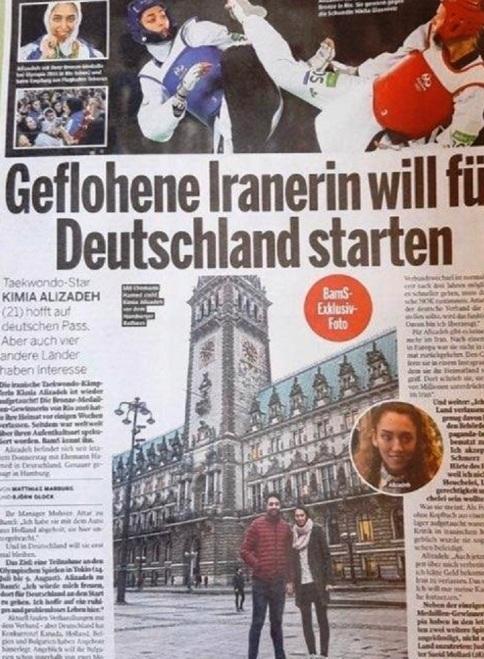 مصاحبه کیمیا علیزاده با مجله آلمانی