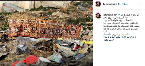 واکنش هنرمندان به خطای انسانی در سقوط هواپیمای اوکراینی
