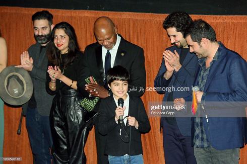 شهاب حسینی و پسرش در جشنواره فیلم کالیفرنیا