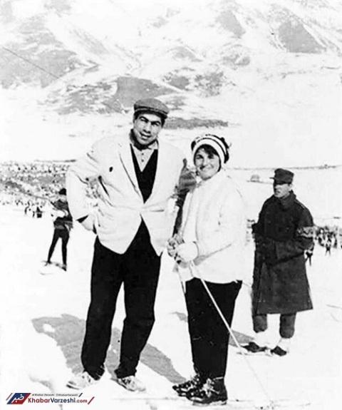 عکس غلامرضا تختی و همسرش