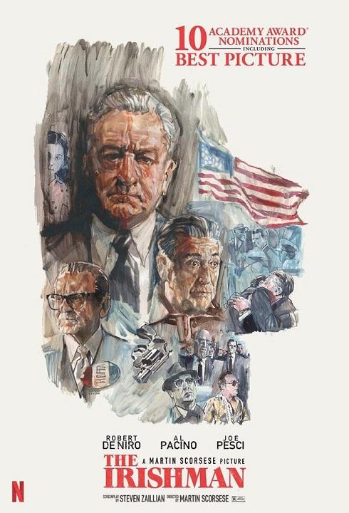 رابرت دنیرو و آلپاچینو روی پوستر مرد ایرلندی