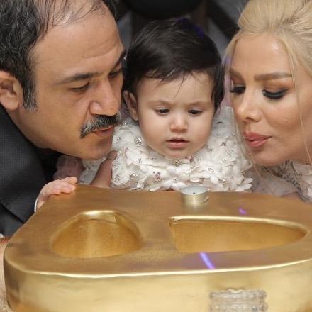 عکس تولد 1 سالگی دختر مهران غفوریان