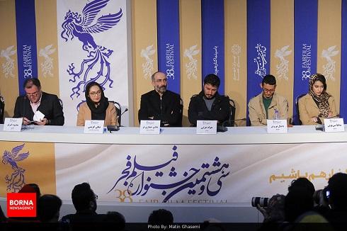 آتابای,نیکی کریمی در جشنواره فجر,جواد عزتی در جشنواره فجر,نشست خبری آتابای