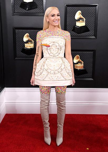 مدل لباس در جوایز گرمی 2020,بهترین مدل لباس در جوایز گرمی 2020,مدل لباس گوئن استفانی Gwen Stefani در جایزه گرمی 2020 Grammy Awards