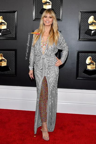 مدل لباس,مدل لباس در جوایز گرمی 2020,بهترین مدل لباس در جوایز گرمی 2020,مدل لباس هایدی کلوم Heidi Klum در جایزه گرمی 2020 Grammy Awards