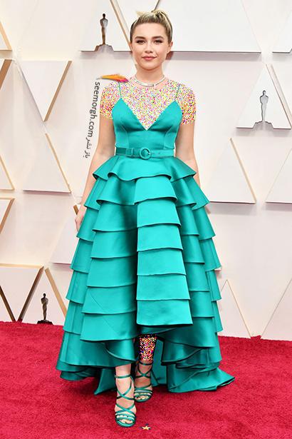 مدل لباس های برتر در اسکار 2020 Oscar فلورنس پیو Florence Pugh,مدل لباس,مدل لباس در اسکار2020, بهترین مدل لباس در اسکار,بهترین مدل لباس در اسکار 2020