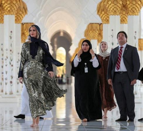 حضور ایوانکا ترامپ در مسجد شیخ زاید