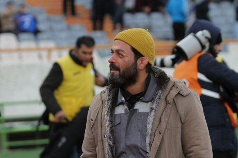 گریم پژمان بازغی در ورزشگاه آزادی