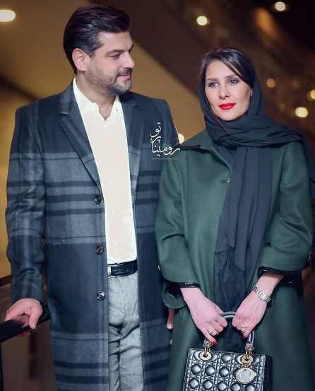 سام درخشانی و همسرش در جشنواره فیلم فجر