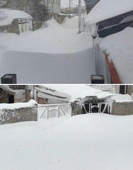 ارتفاع برف در خلخال