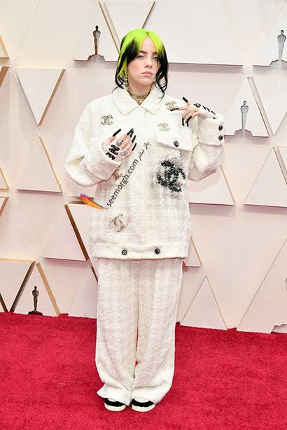 بدترین مدل لباس در مراسم اسکار 2020 Oscar بیلی آیریش Billie Eilish,بدترین مدل لباس,بدترین مدل لباس در اسکار 2020,مدل لباس در اسکار 2020