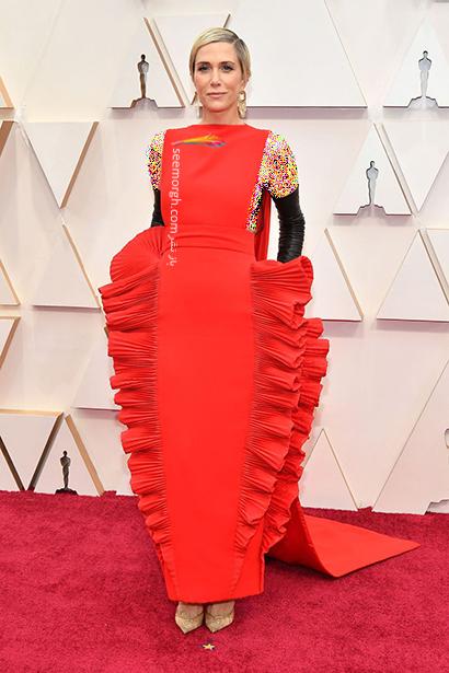 بدترین مدل لباس در مراسم اسکار 2020 Oscar کریستین ویگ Kristen Wiig,بدترین مدل لباس,بدترین مدل لباس در اسکار 2020,مدل لباس در اسکار 2020