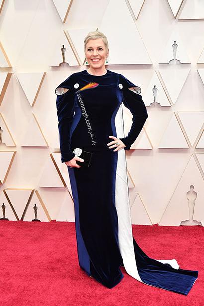 بدترین مدل لباس در مراسم اسکار 2020 Oscar اولیویا کلمن Olivia Colman,بدترین مدل لباس,بدترین مدل لباس در اسکار 2020,مدل لباس در اسکار 2020