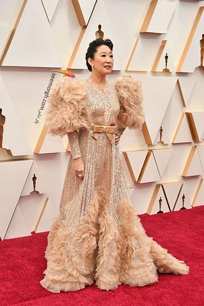 بدترین مدل لباس در مراسم اسکار 2020 Oscar ساندرا او Sandra Oh,بدترین مدل لباس,بدترین مدل لباس در اسکار 2020,مدل لباس در اسکار 2020