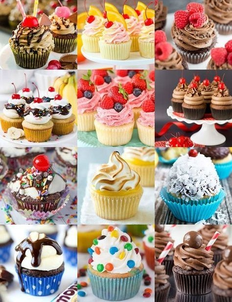 کاپ کیک، دستور تهیه و تزیین انواع کاپ کیکها