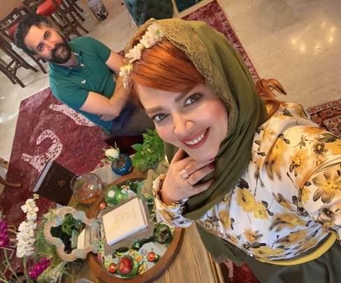 بهاره رهنما و همسرش در نوروز 99