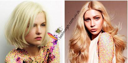 بهترین رنگ موهای بلوند برای عید نوروز,رنگ مو بلوند روشن (بژ روشن ) برای نوروز