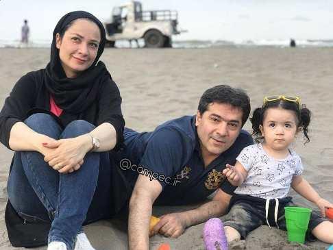 نسرین نصرتی و همسر و دخترش سوفی