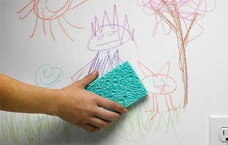 پاک کردن لکه مداد رنگی از روی دیوار,لکه های مختلف روی دیوار را چگونه پاک کنیم؟