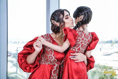 ست کردن لباس الهام عرب و دخترش