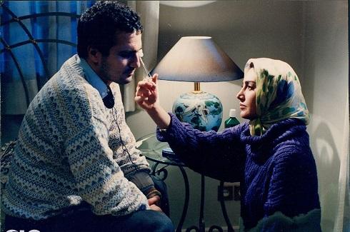 هدیه تهرانی و محمدرضا فروتن در قرمز