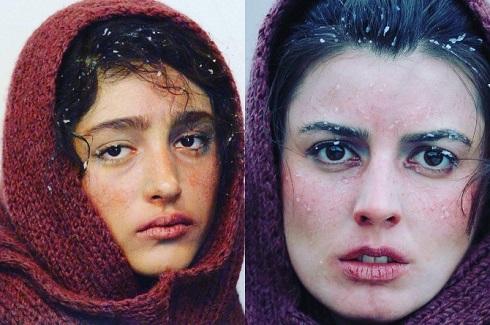 گلشیفته فراهانی,لیلا حاتمی,گریم بازیگران,فیلم زمان می ایستذد,هانیه توسلی
