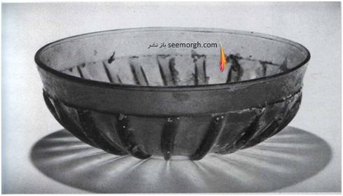 کاسه شیشه ایی، قرن 5 ق م، غرب ایران یا بین النهرین