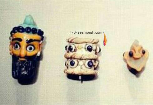 مهره های شیشه ای باستانی 250-500 قبل میلاد