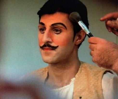 گریم هومن حاجی عبداللهی در نمایش خسیس