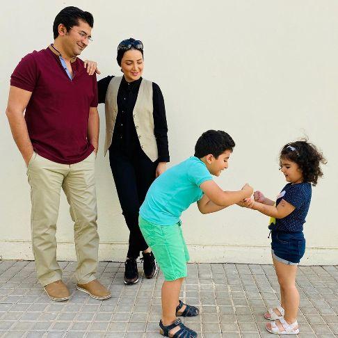 عکس شیلا خداداد در کنار همسر و فرزندانش