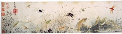 نقاشی معاصر روی ابریشم درچین