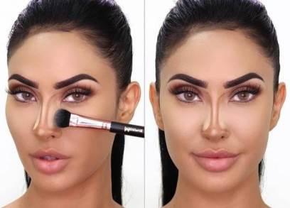 اگر بینی پهن دارید اینطور آرایش کنید !!