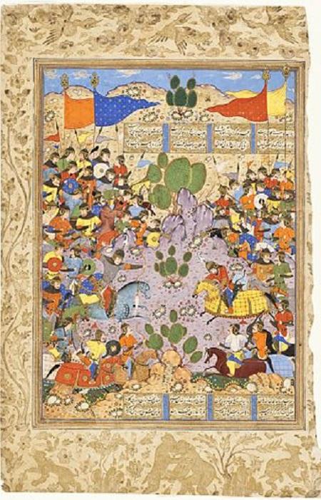 نبرد بهرام چوبین با ساوهشاه در شاهنامهٔ فردوسی
