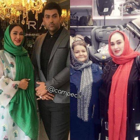 الهام حمیدی درحال خرید سیسمونی با مادرش