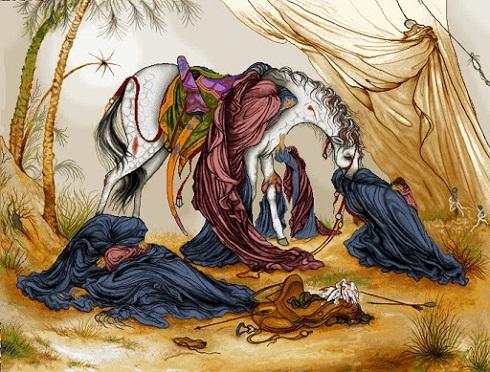 عصر عاشورا اثر استاد فرشچیان