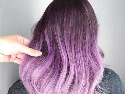 بالا بردن رنگ مو فانتزی بنفش