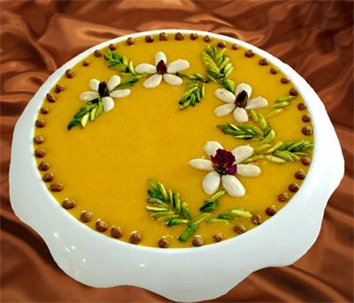 طرز تهیه حلوا زرده همدانی