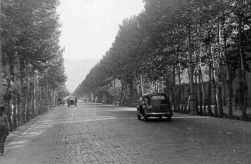 خیابان پهلوی قبل از آسفالت شدن