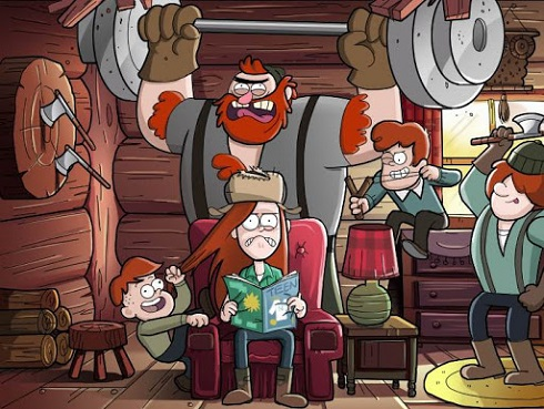 کارتون Gravity Falls آبشار جاذبه