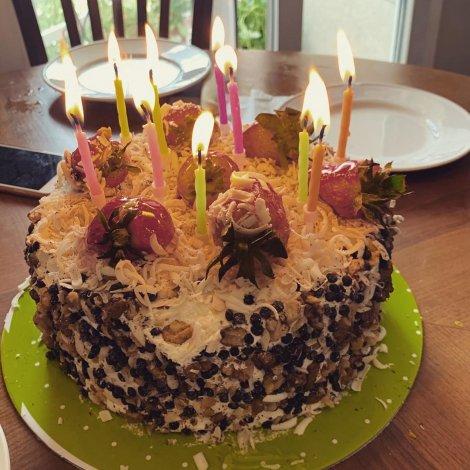 جشن تولد 41 سالگی هانیه توسلی در شرایطی سخت! عکس