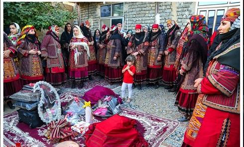 خنچه عقد عروس و داماد در عروسی کلات نادری
