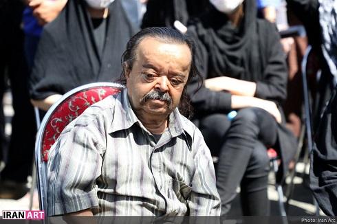 حضور هنرمندان در مراسم خاکسپاری محمدعلی کشاورز
