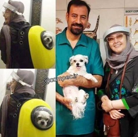 عکس منتشر شده از کتایون ریاحی و سگش