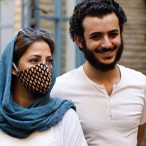 علی شادمان و طناز طباطبایی در اکران فیلم شنای پروانه